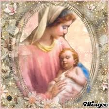 Mother Mary with baby Jesus Mother Gif, Jesus Mother, Baby Jesus, Blessed Mother, Mother Mary, Jesus And Mary Pictures, Hail Mary, Madonna, Christmas Time