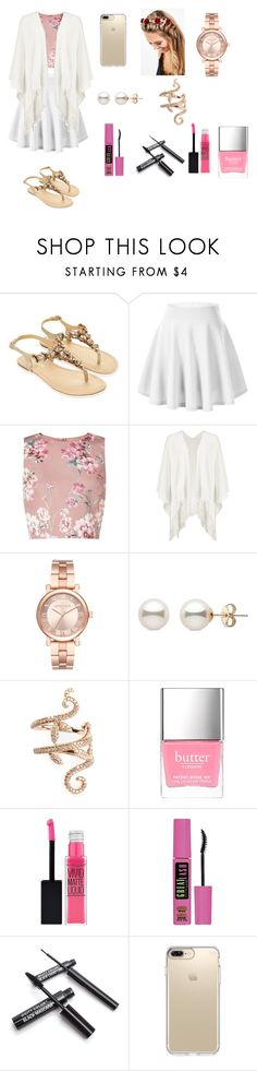 """output summer"" by lola-madridista ❤ liked on Polyvore featuring Monsoon, Miss Selfridge, Boohoo, Michael Kors, Elise Dray, Butter London, Maybelline, Speck and Johnny Loves Rosie"