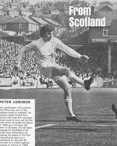 Circa 1970. Winger/forward Peter Lorimer in action at Elland Road.