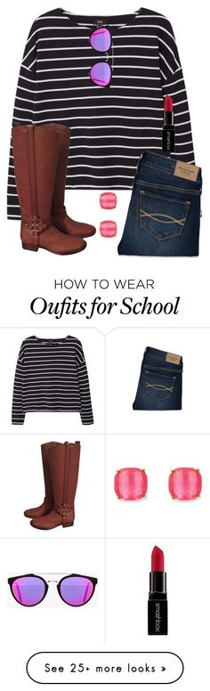 """""""School tomorrow and friends that hate my guts"""" by legitmaddywill on Polyvore featuring MANGO, Abercrombie & Fitch, Tory Burch, RetroSuperFuture, Kate Spade, Smashbox, women's clothing, women's fashion, women and female"""