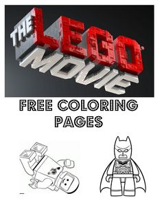 FREE The LEGO Movie Coloring Pages | debtfreespending.com