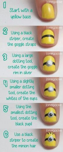 Despicable Me minion nails how-to