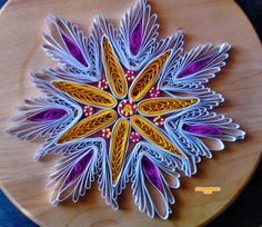 Quilling weiss - gelb - pink