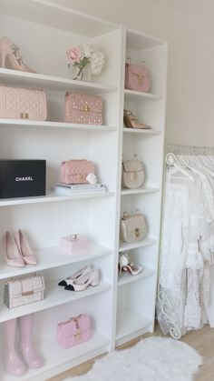 Fill your closet with the most Beautiful Accessories. Bedroom Closet Design, Glam Bedroom, Bedroom Decor, Ikea Wardrobe Hack, Vanity Room, Luxury Closet, Beauty Room, My New Room, Palette