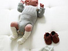 strikket romper gutt baby