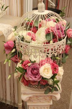 Decor floral in colivie (Birdcage flower design)