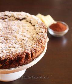 Sbriciolata al cacao con crema di ricotta e cioccolato bianco Dulcisss in forno by Leyla