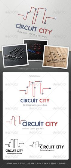 Curcuit City  - Logo Design Template Vector #logotype Download it here: http://graphicriver.net/item/curcuit-city-logo/4860859?s_rank=1404?ref=nexion