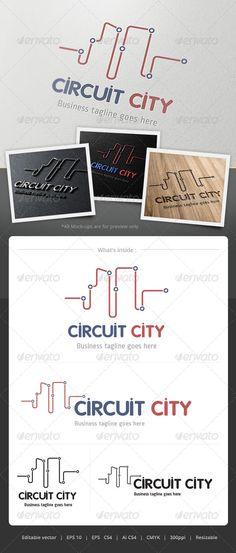 Curcuit City  - Logo Design Template Vector #logotype Download it here: http://graphicriver.net/item/curcuit-city-logo/4860859?s_rank=1404?ref=nexion