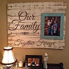 Custom Barnwood Frames - SIGN - OUR FAMILY, $49.99 (http://www.custombarnwoodframing.com/products/sign-our-family.html) #LGLimitlessDesign #Contest