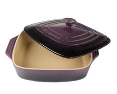 Le Creuset Purple Square Baker with Lid