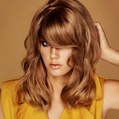 Honey dark blonde with blended highlights