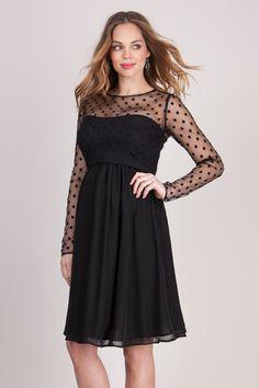 schwarzes Umstandskleid sexy