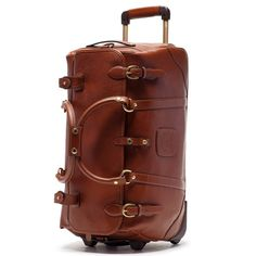 Ghurka Kilburn RS No. 252 Rolling Suitcase in Chestnut Leather aso Meghan Markle