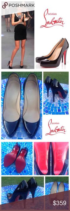STUNNING!  Christian Louboutin Rolando patent pump Stunning, barely worn, authentic Christian Louboutin 'Rolando' pumps are in amazing condition with virtually no wear to patent!  Soles have had vibrams placed professionally by shoe cobbler to preserve red bottoms, which will add a bit of cushion to your step as well!  No box or dust bag & priced accordingly.  Don't miss this incredible deal on your new favorite designer pump, at a fraction of the price!  Retail at $700!  No trades or…