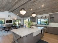 Contemporary Kitchen With Large Blue Island | HGTV