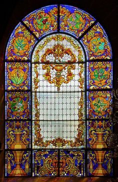 Barcelona - Carme 045 g Stained Glass Church, Stained Glass Art, Stained Glass Windows, Leaded Glass, Beveled Glass, Mosaic Glass, Art Nouveau, Glass Artwork, Stained Glass Designs
