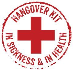 hangover kit label - Google Search