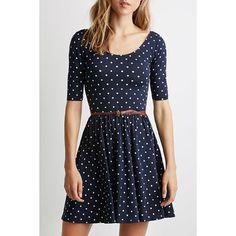$11.49 Graceful Scoop Collar Half Sleeve Polka Dot Backless Women's Dress