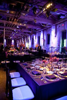 rich moody purples lend a seductive mood to this reception site