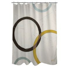 This Artsy, Urban Themed Spherically Designed Shower Curtain Features  Multiple Earth Tones To Change