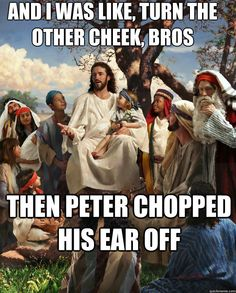 Peter was not always the best listener.