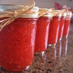 Strawberry Freezer Jam using sugar free jello!