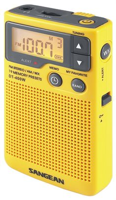 Sangean DT-400W AM/FM Digital Weather Alert Pocket Radio
