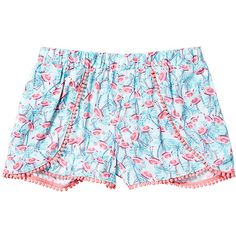 Girls' Pom Pom Flamingo Print Wrap Shorts Target Australia ($11) ❤ liked on Polyvore featuring shorts