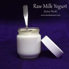 Recipe: Raw Milk Yogurt (Extra Thick!) - and a review for the Euro Cuisine YM80 yogurt maker. #rawmilk #realmilk