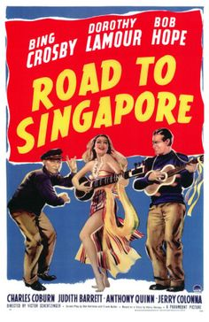 "Road to Singapore (1940) - Bing Crosby and Bob Hope star in the first of the ""Road To"" movies. Love them all!"
