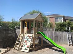 Outlook Fort for outdoor kids play area, from Cubby Houses Forts and Kennels DFR outdoor Timber Melbourne Pakenham Victoria, we build Austra...
