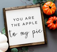 This fall farmhouse sign is perfect for anyone that loves Thanksgiving and especially Thanksgiving dinner. Gear up for Thanksgiving with this adorable sign and get ready to eat some pie. Love Wooden Sign, Painted Wood Signs, Wooden Signs, Fall Wood Signs, Fall Signs, Fall Decor Signs, Fall Home Decor, Autumn Home, Dyi Fall Decor