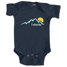 Telluride, Colorado Mountain Sunset - Infant Onesie/Bodysuit