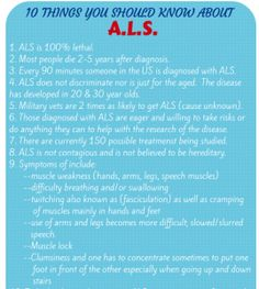 {Featured Blogger} 10 Things you should know about ALS