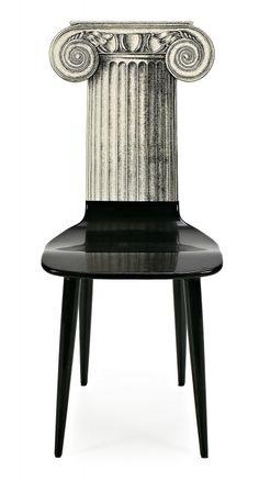 "Piero Fornasetti Piero Fornasetti Milan 1913 - 1988 ""Ionic Capitello"" chair #inlarariastudio #inspo"