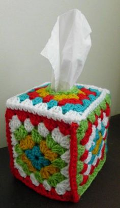crochet tissue box cover - Google Search