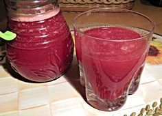 Očistný nápoj zčervené řepy