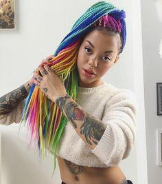 Rainbow Hair Colour : Photo