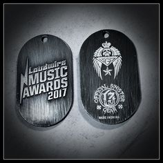 Sinister Guitar Picks Produced These Commemorative Dog Tags. They  Were Made To Commemorate Loudwire's 1st Annual Music Award Show Held At The Novo Theater Oct 24th, 2017.