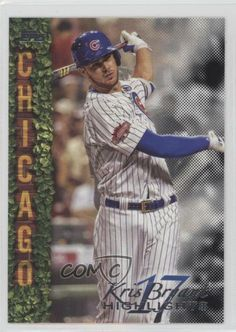 2018 Topps Wal-Mart Highlights Black #KB-11 Kris Bryant Chicago Cubs Card #ChicagoCubs Cubs Cards, Baseball Series, Chicago Cubs Baseball, Babe Ruth, Highlights, Walmart, Baseball Cards, Black, Fashion
