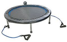 Stamina InTone Plus 38 in. Rebounder - Ideal low-impact cardiovascular exercise for beginning or advanced fitness enthusiasts Large rebounding surface with optic blue border for safe. Trampolines, Trampoline Reviews, Best Trampoline, Fitness Trampoline, Mini Trampoline Workout, Rebounder Trampoline, Fitness Monitor, Fitness Models, Trampoline Workout