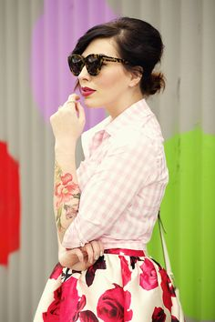 keiko lynn: Gingham and Floral