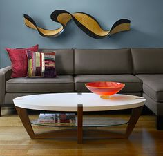 Wallwave by Kerry Vesper: Wall Sculpture available at www.artfulhome.com