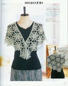 Knitting And Beading Wedding Bridal Accessories and Free pattern: Bridal crochet shawl wrap / Free Pattern