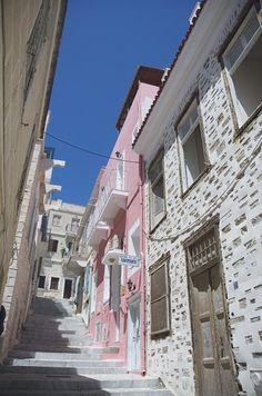The streets of Ermoupolis, Syros island, Greece Santorini, Mykonos, Paros, Most Romantic Places, Beautiful Places, Places Around The World, Around The Worlds, Syros Greece, Greece Islands