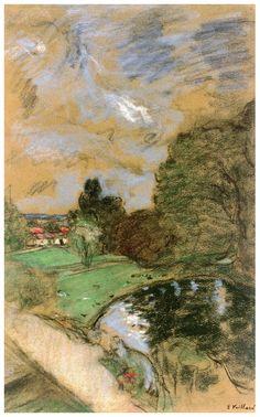 Edouard Vuillard - stormy sky (c. 1932-1938) [pastel]