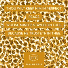 KJV Verse of the Day: Isaiah 26:3