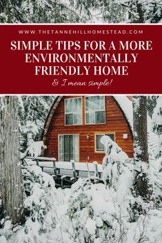 Simple Tips for a More Environmentally Friendly Home | www.thetannehillhomestead.com