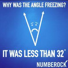 Funny Math Joke!  Why was the angle freezing?
